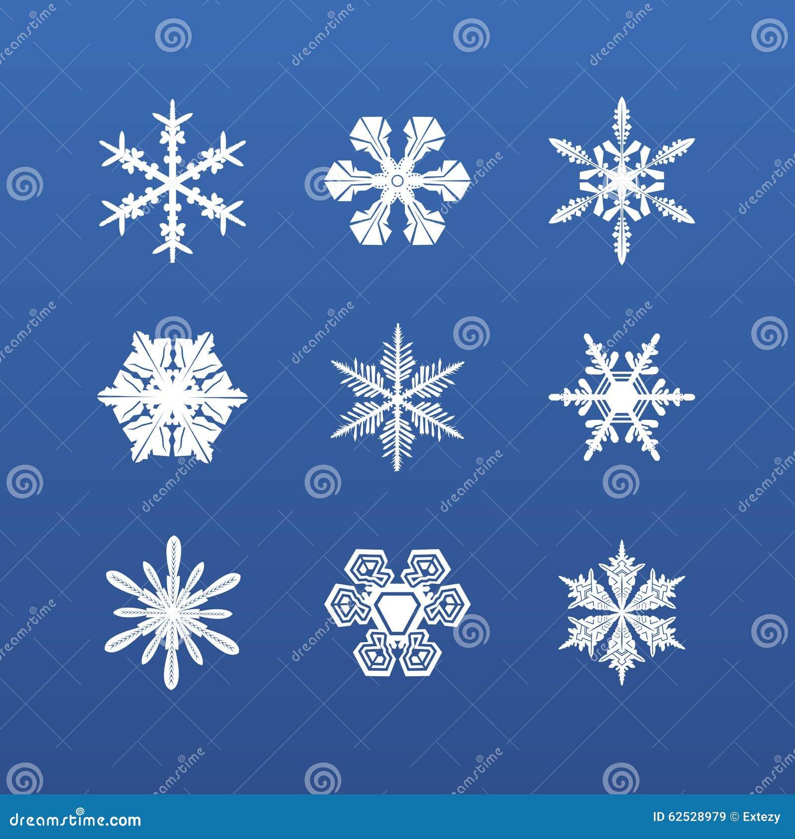 雪花冬天集 向量
