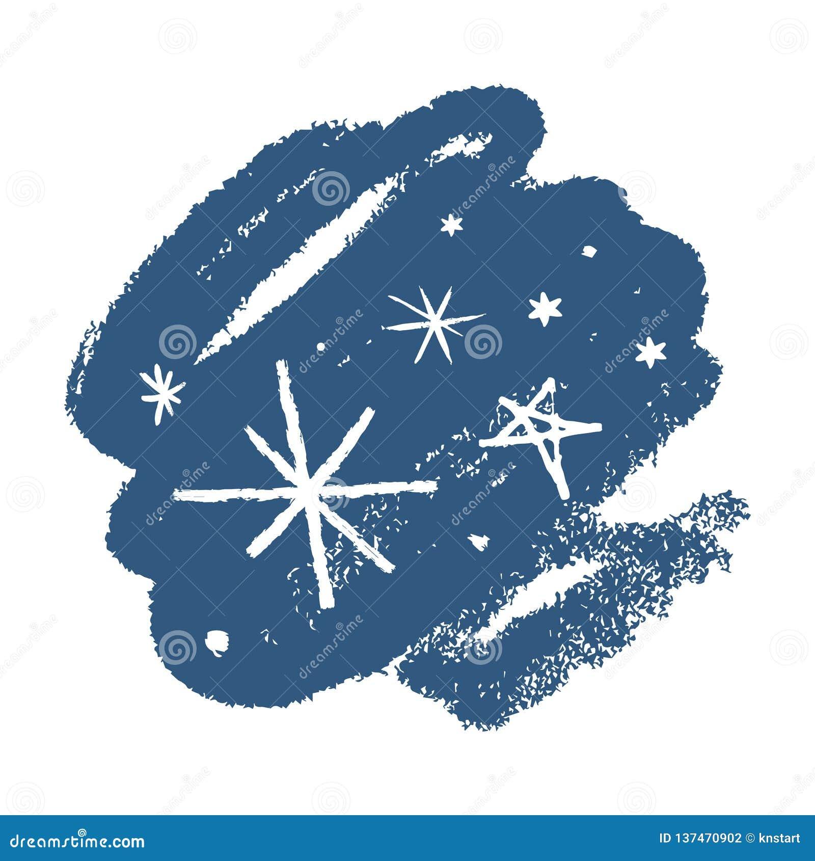 雪花手拉的传染媒介象集合,刷子污迹 背景能例证主题使用的冬天