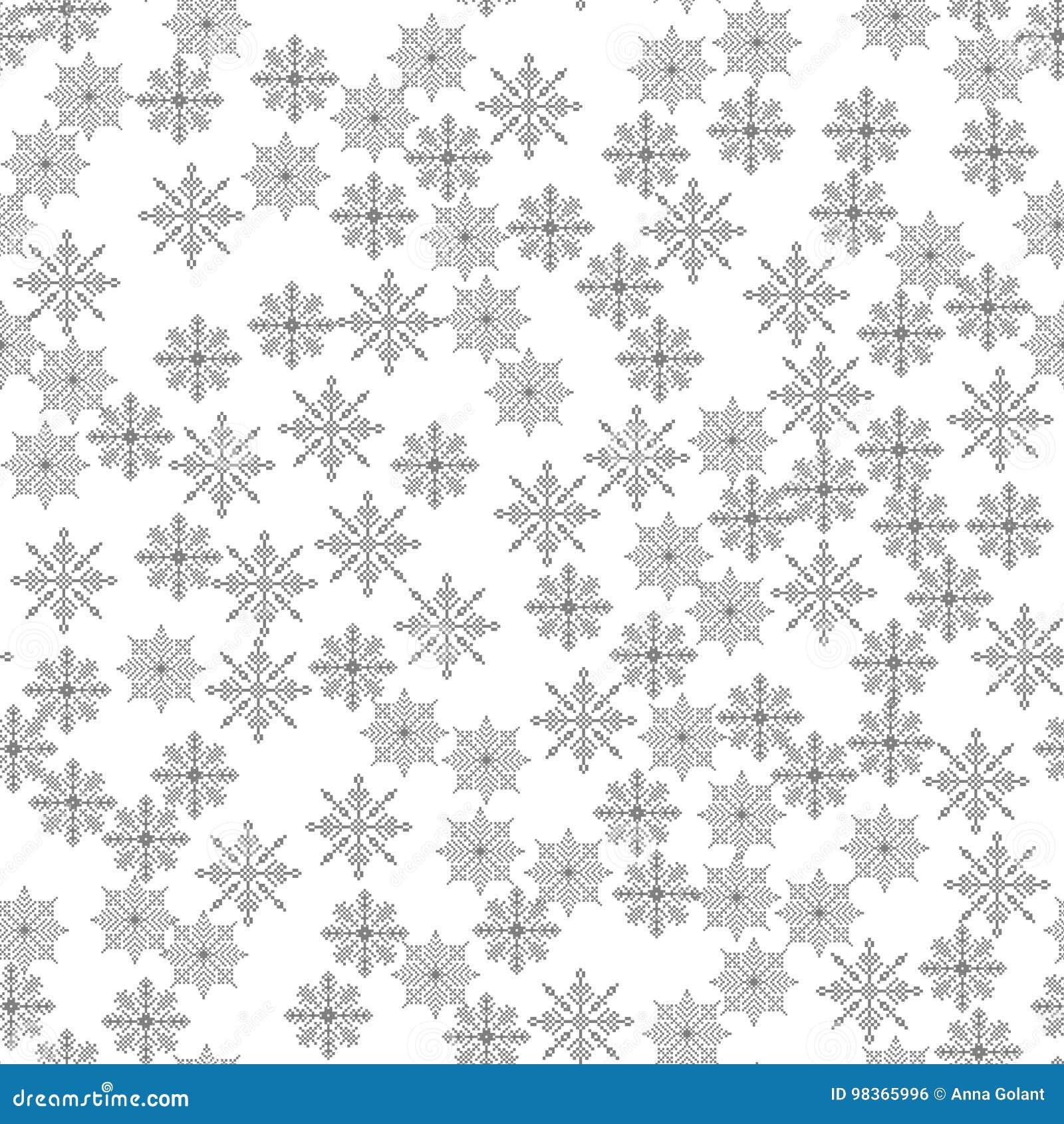 雪花无缝的样式光圣诞节背景传染媒介例证冬天,新年,假日题材