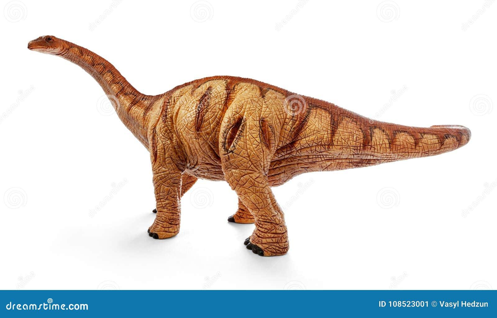 comp 雷龙属恐龙在与裁减路线的白色背景戏弄隔绝 晚罗纪 照片拍摄图片