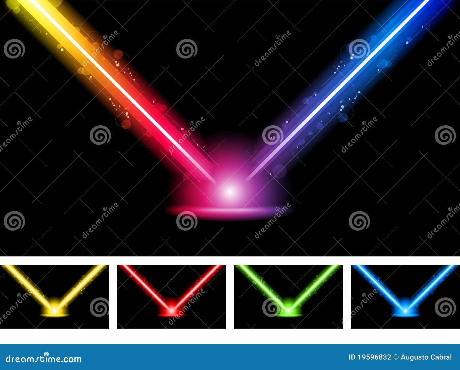 霓虹五颜六色的激光