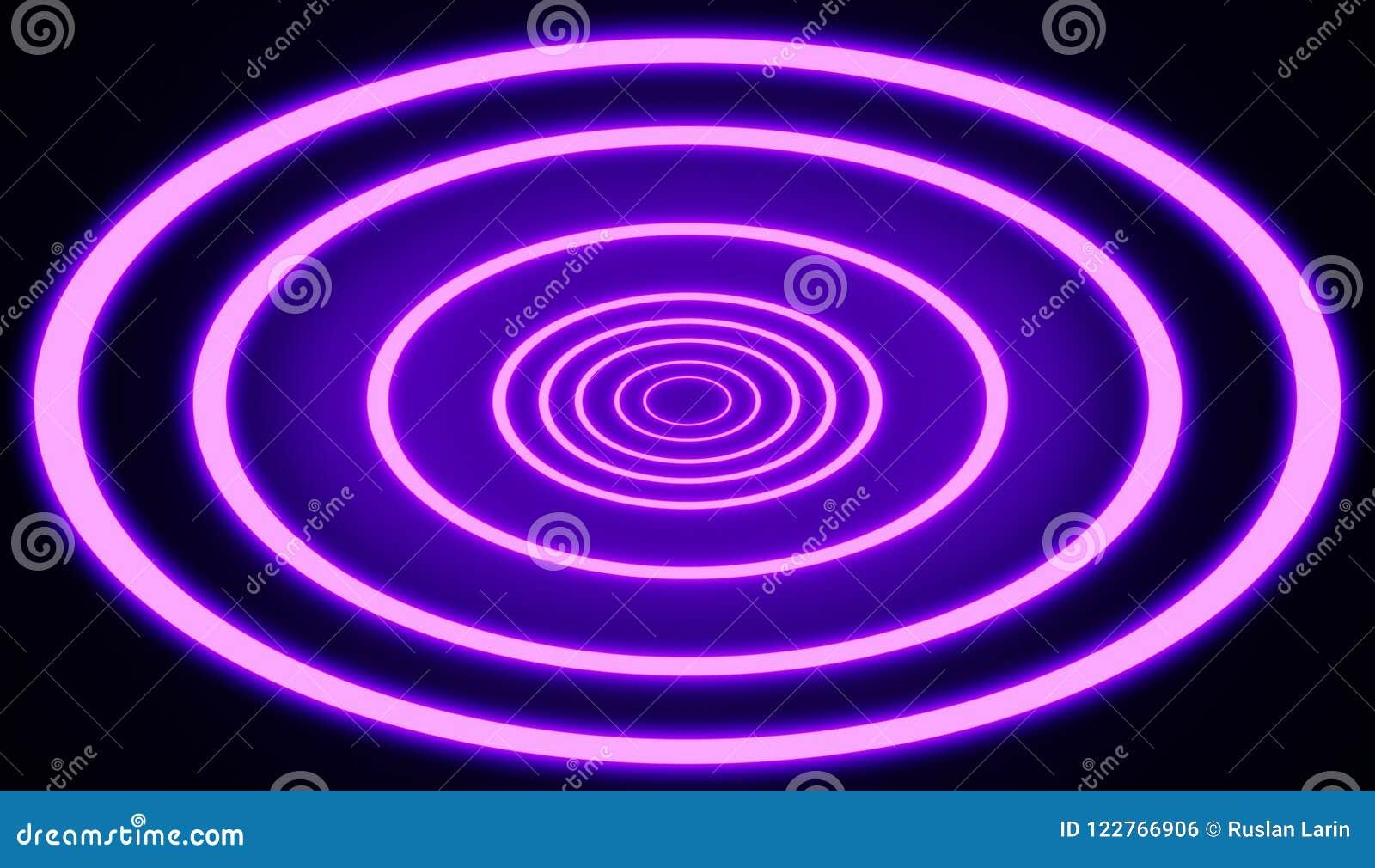 霓虹减速火箭的样式链接点燃圆隧道样式回报