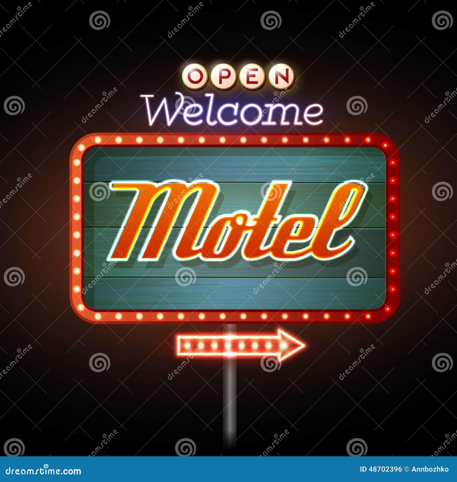 霓虹灯广告汽车旅馆