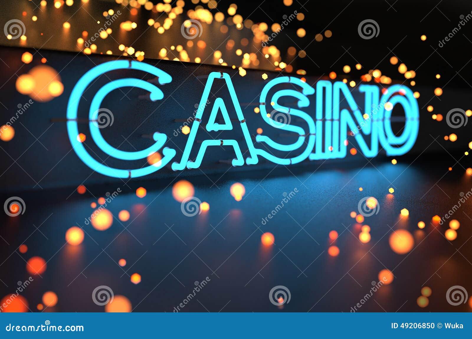 霓虹赌博娱乐场标志
