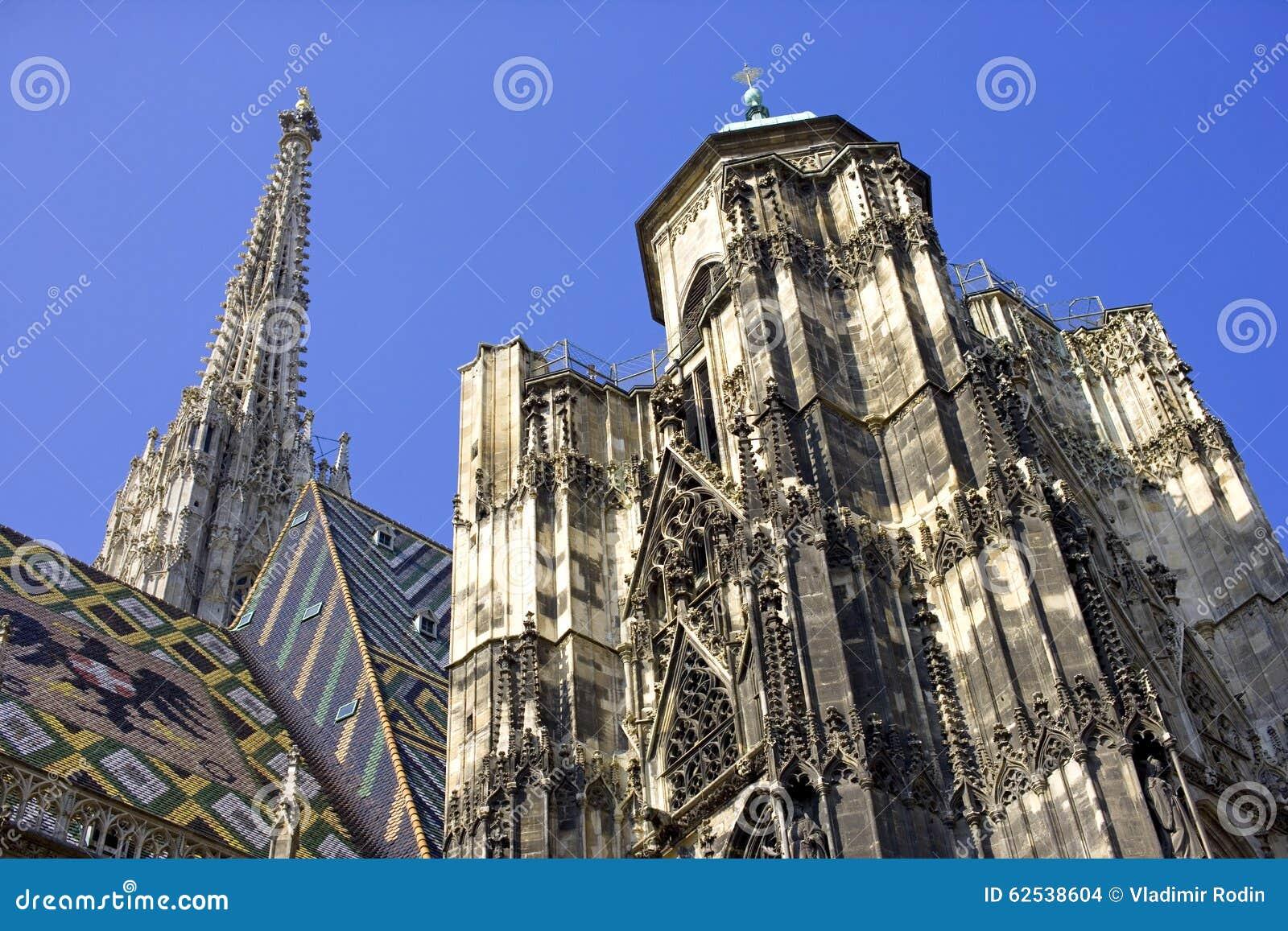 静脉奥地利圣徒斯蒂芬的大教堂哥特式样式