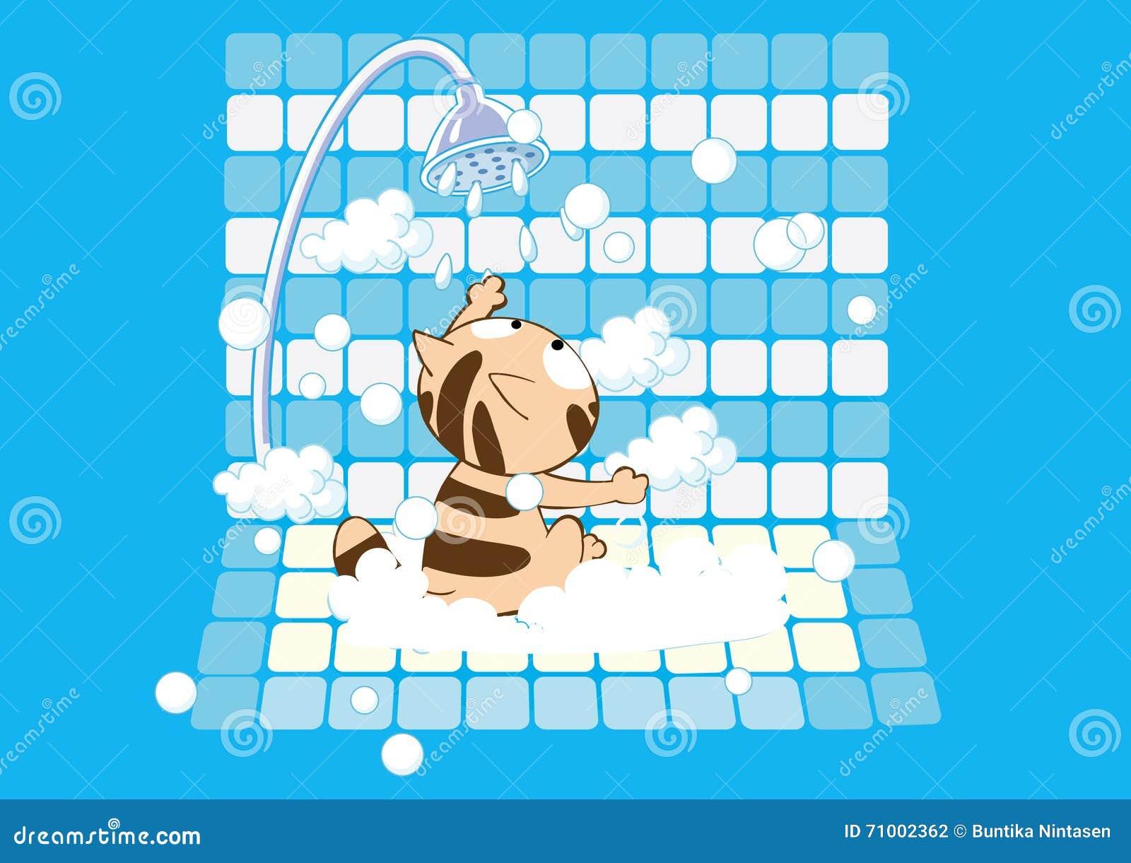 非常有逗人喜爱的猫肥皂的浴