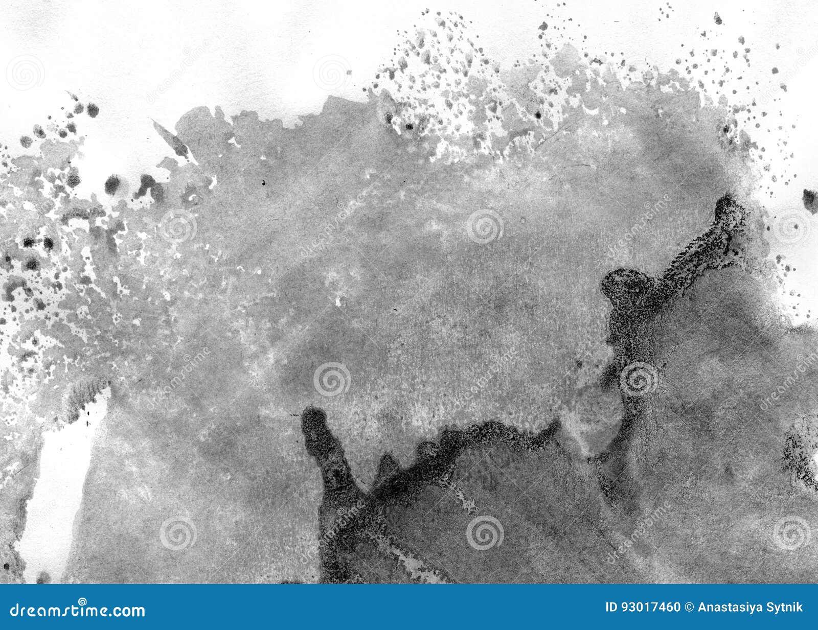 非常HIGHT决议 几何街道画摘要背景 在白皮书的黑丙烯酸漆冲程纹理