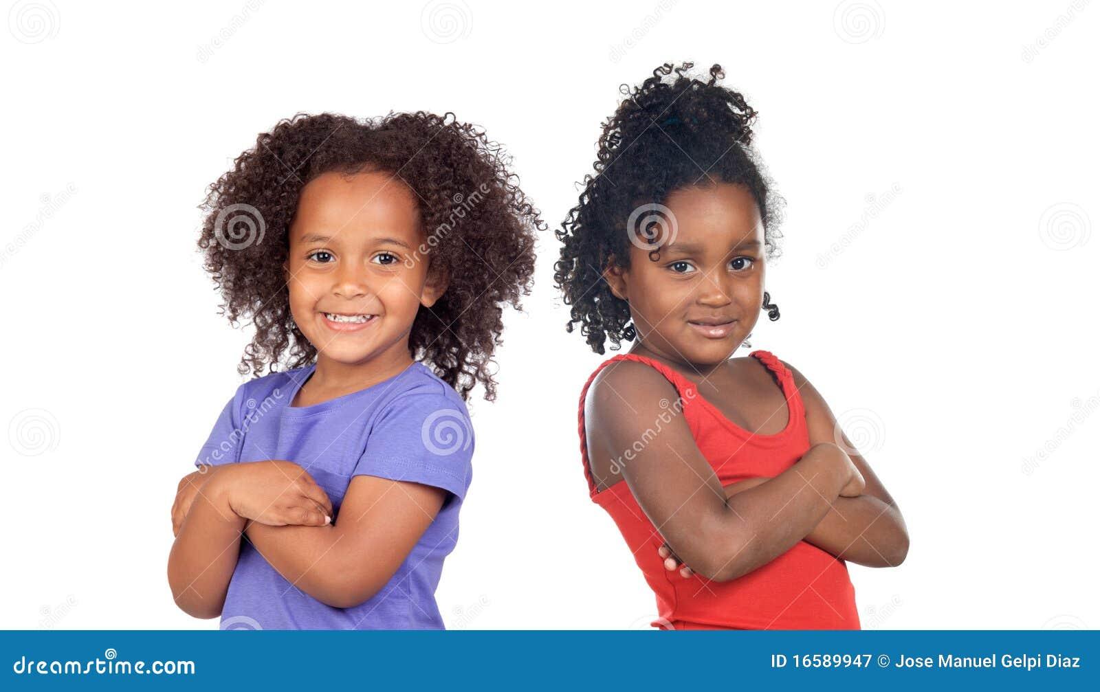 非洲儿童姐妹