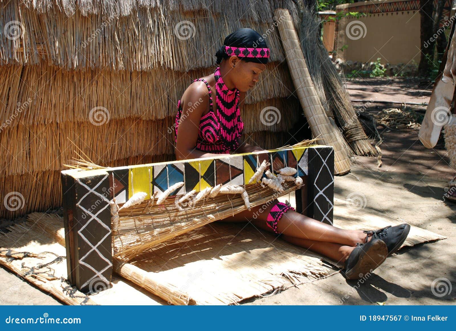 非洲南织法妇女祖鲁族人