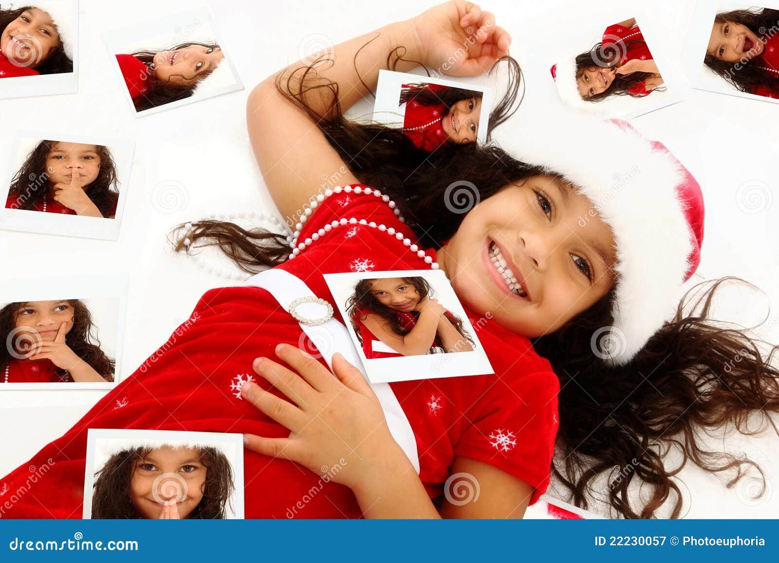 非洲裔美国人的儿童圣诞节讲西班牙语的美国人纵向