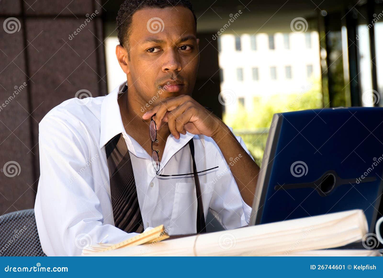 非洲裔美国人的行政生意人