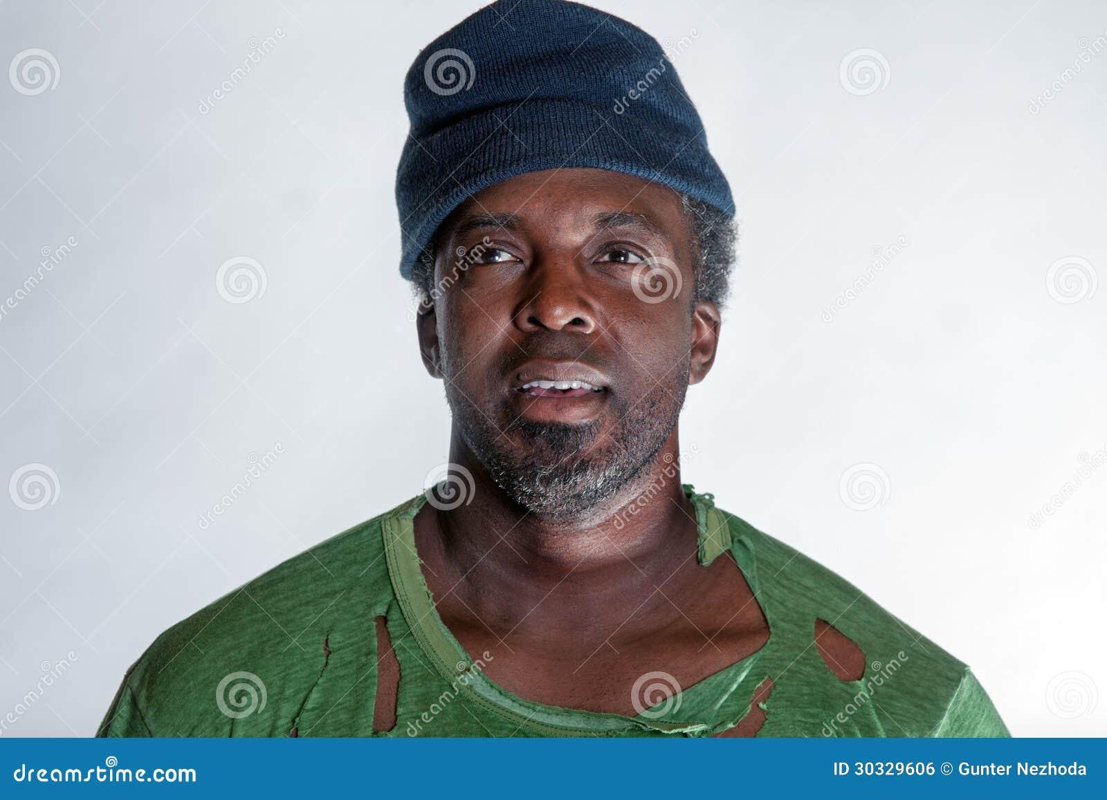 非裔美国人的无家可归的人