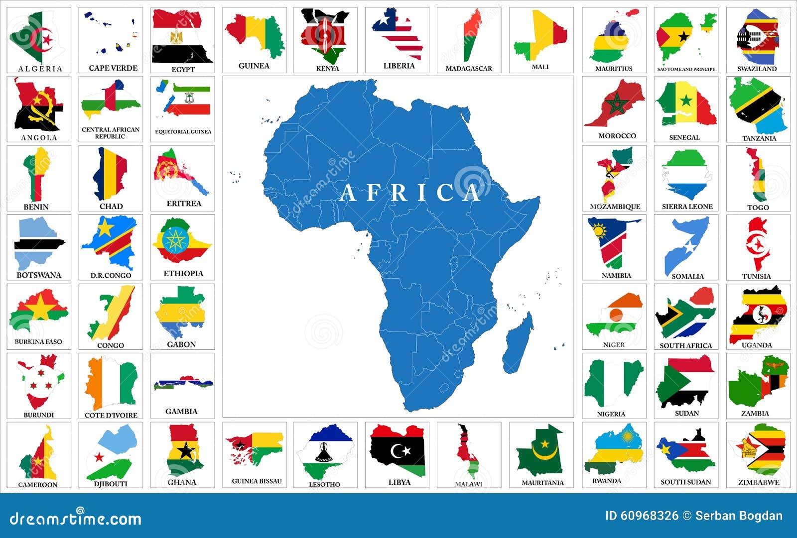 非洲国旗地图