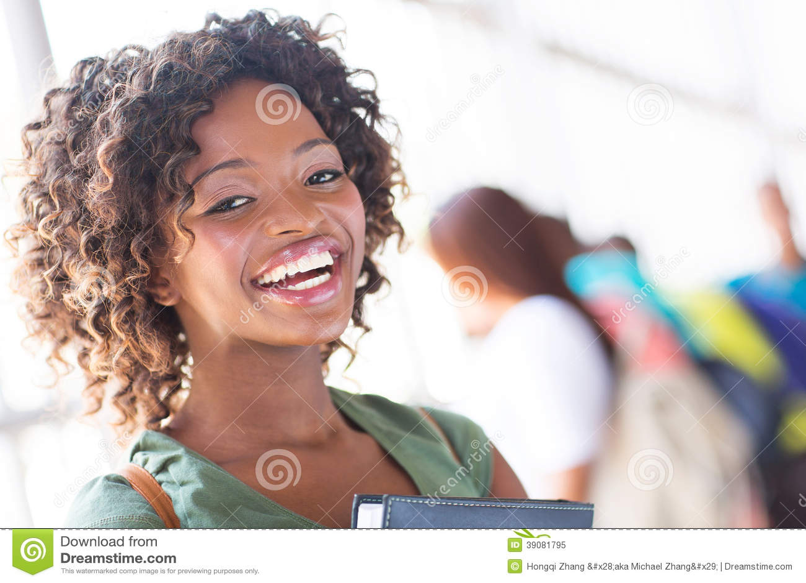 非洲肌肉女_库存照片: 非洲女大学生