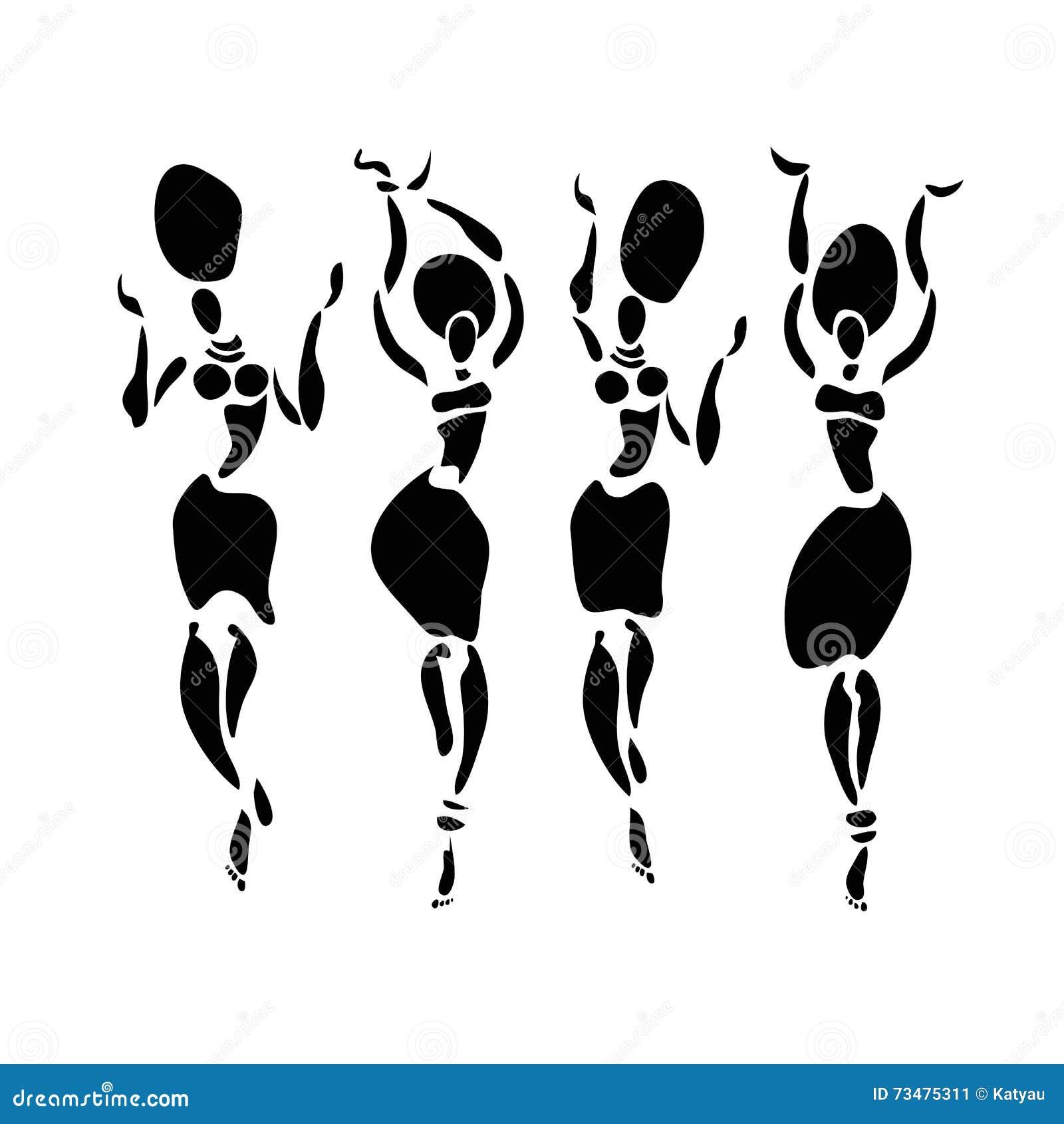 非洲舞蹈家剪影集合