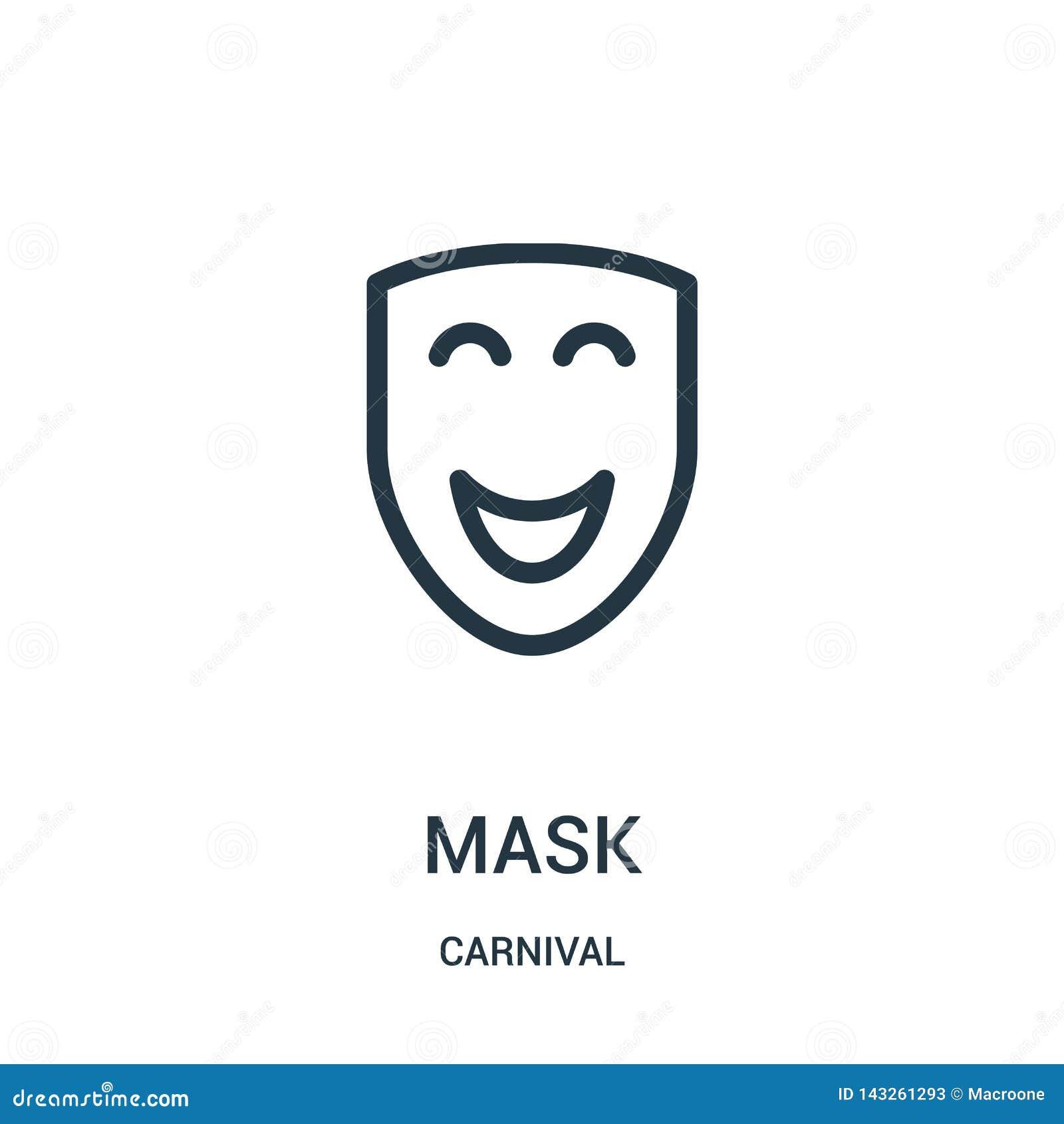 面具从狂欢节汇集的象传染媒介 稀薄的线面具概述象传染媒介例证