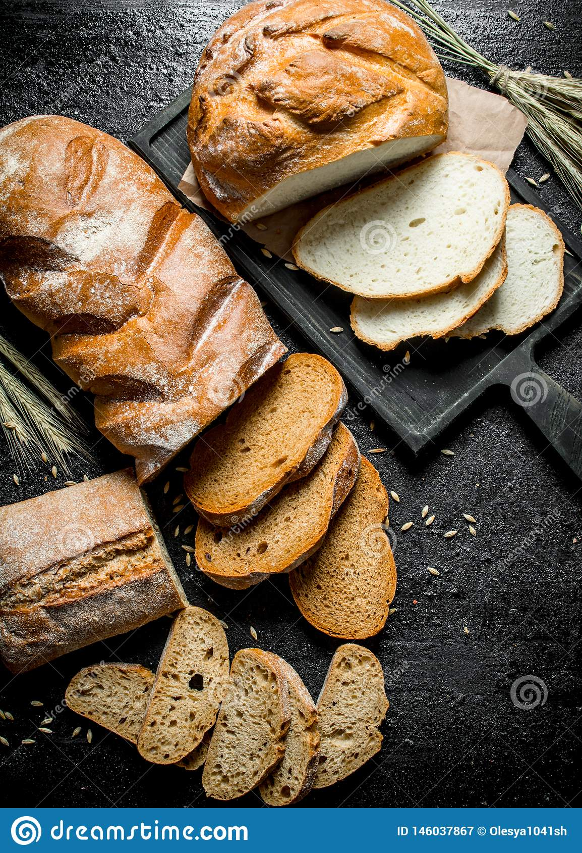 面包不同片断