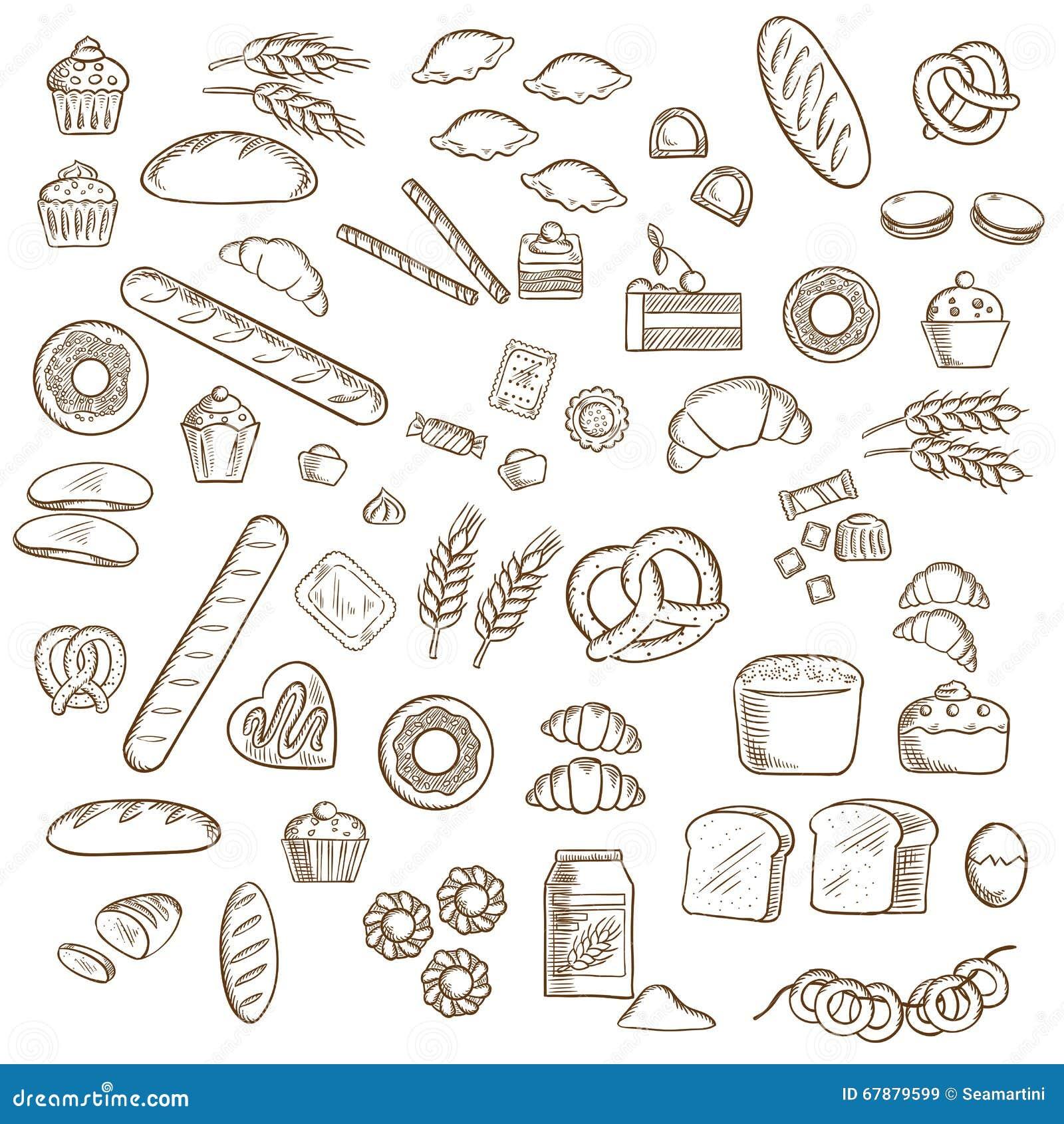 面包店、酥皮点心和糖果店剪影