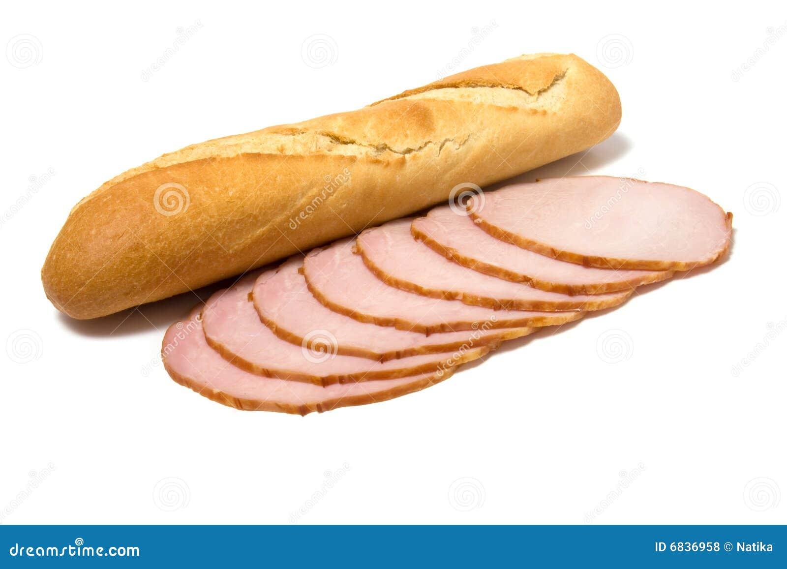 面包查出的肉切白色