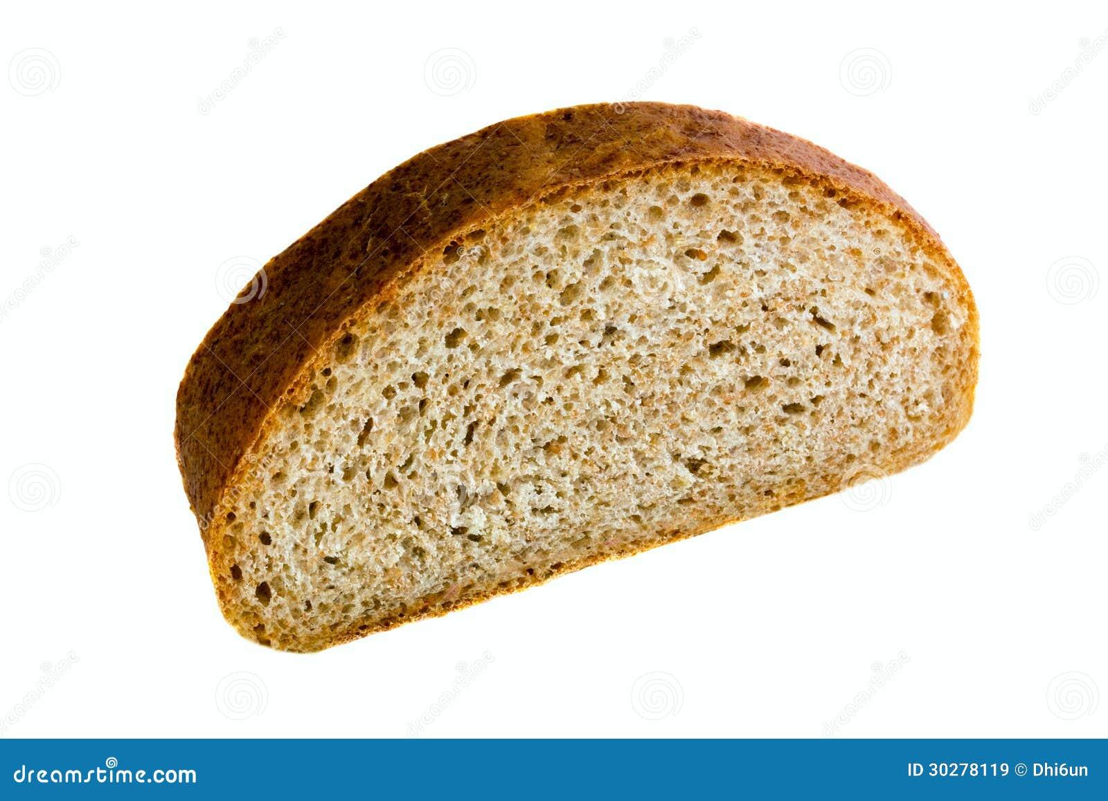 面包片在白色背景的
