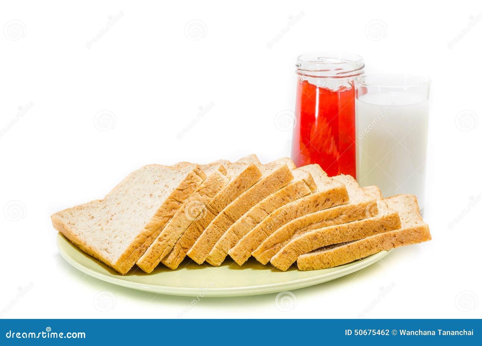 Download 面包用牛奶果酱在白色演播室的 库存照片. 图片 包括有 射击, 鲜美, browne, 正餐, 噬菌体, 红色 - 50675462