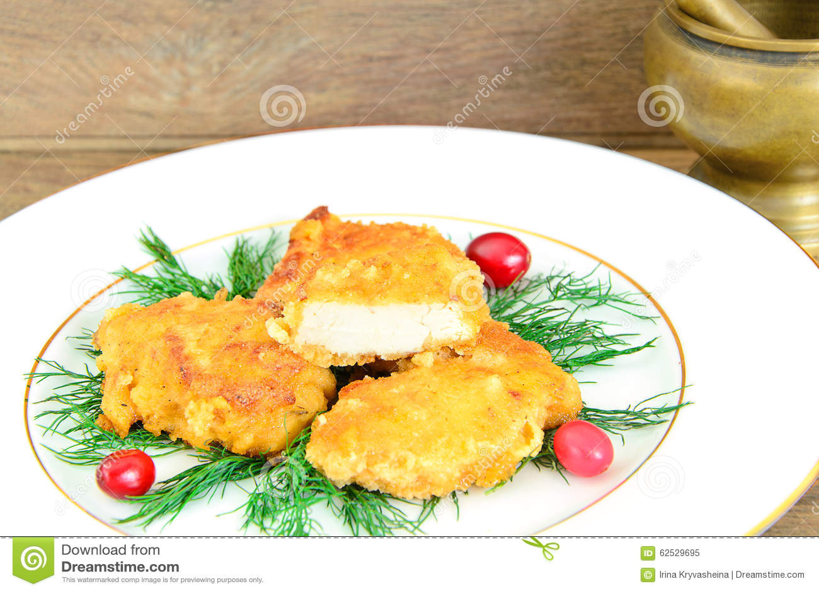 面包鸡内圆角用草本和蔓越桔