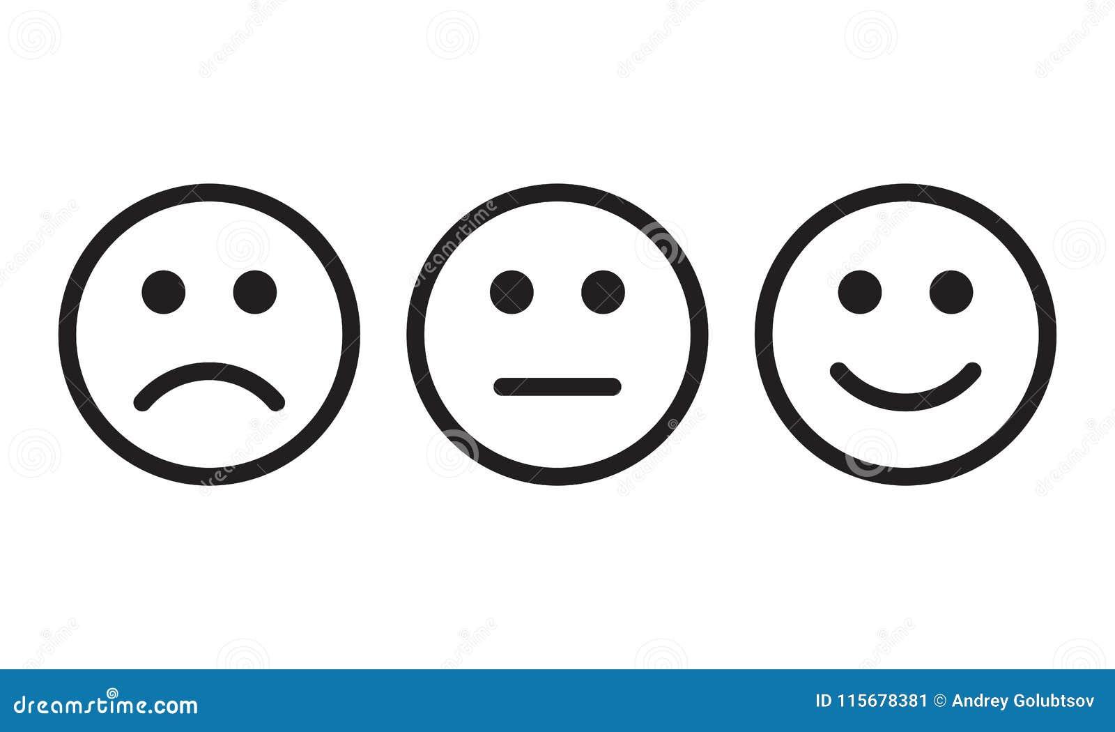 面对微笑象正面,消极中立观点传染媒介标志