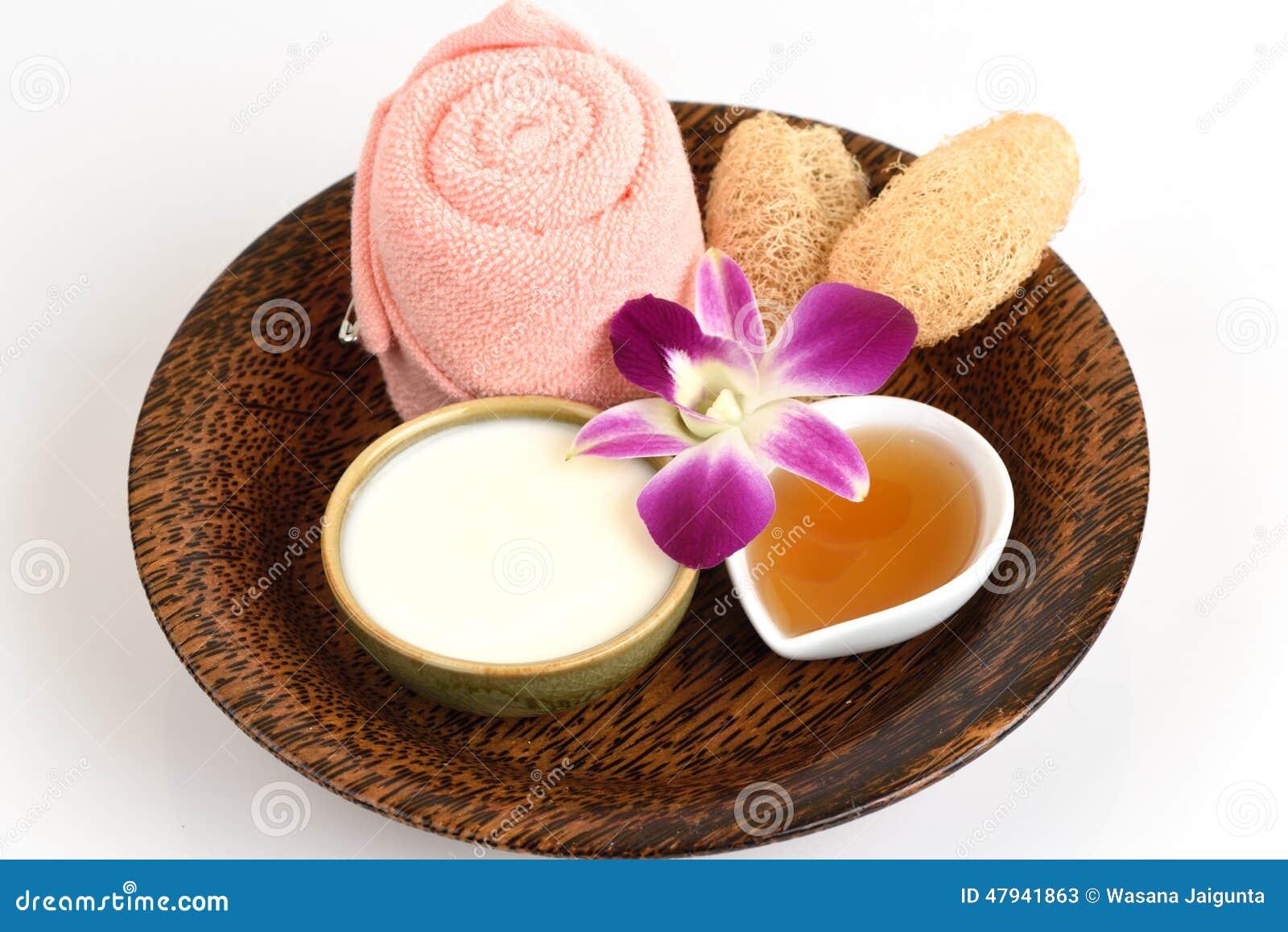 面罩用酸奶和蜂蜜
