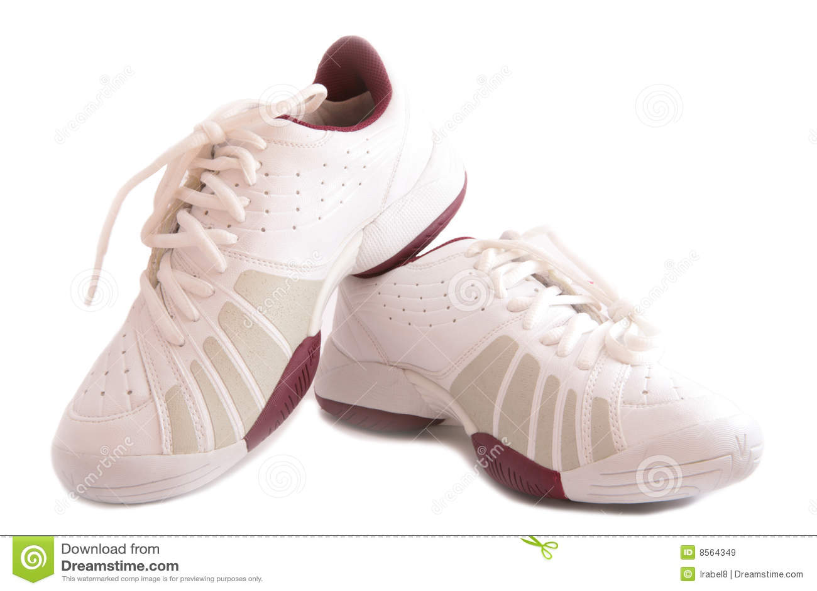 鞋子炫耀白色