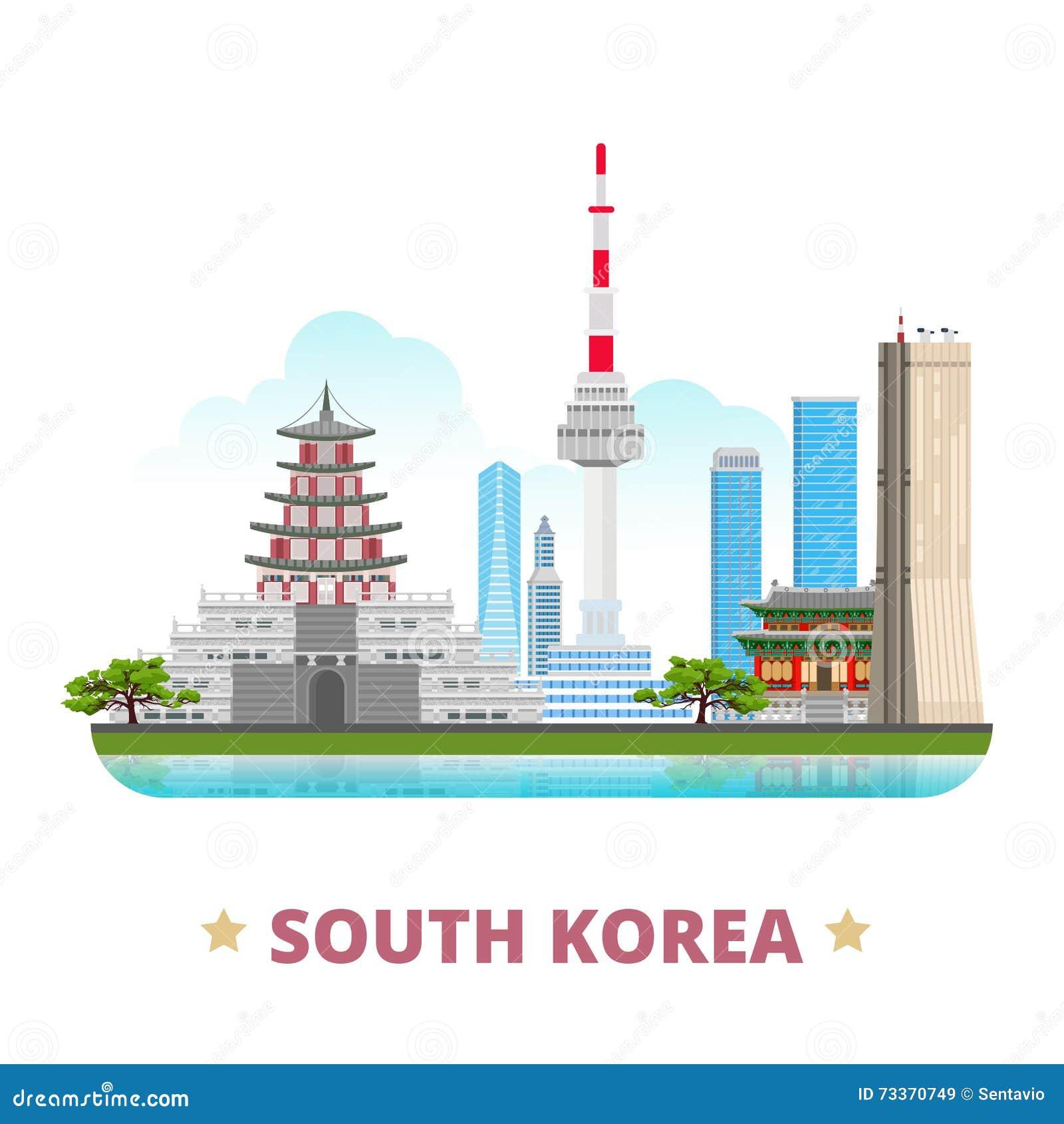 韩国国家设计模板平的动画片s