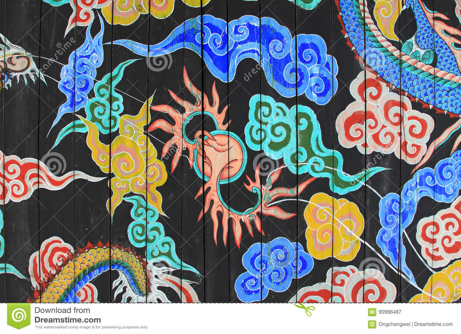 韩国龙绘画