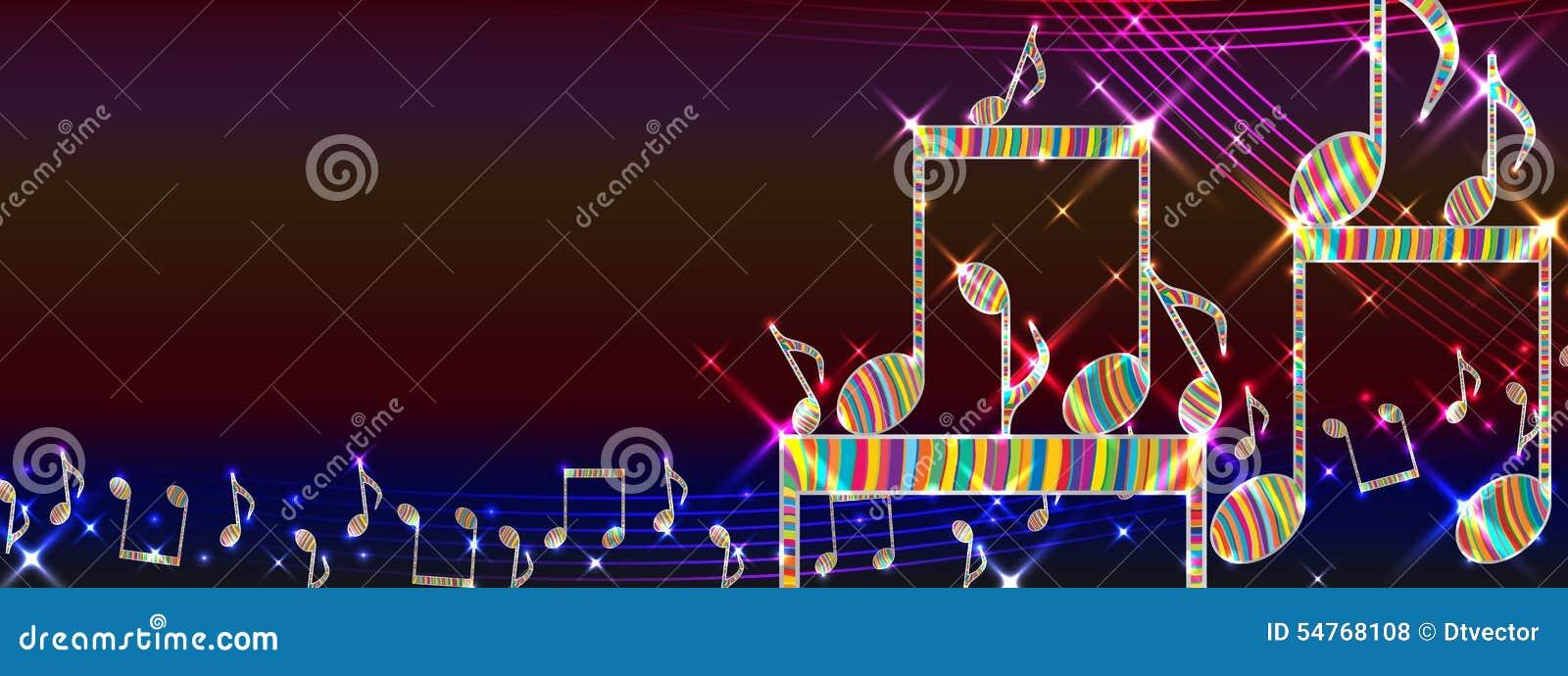 音乐五颜六色的平台横幅