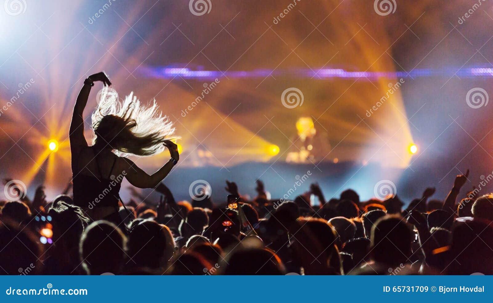 音乐会的Dj