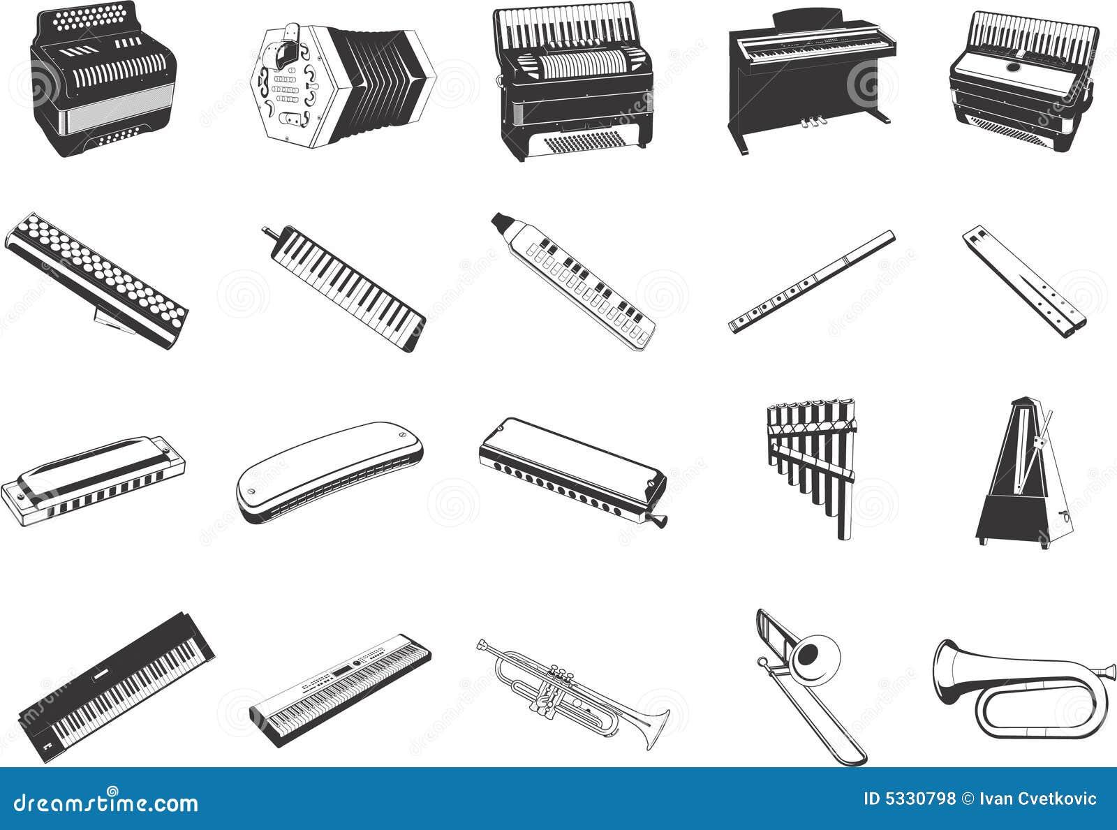 音乐图标的仪器