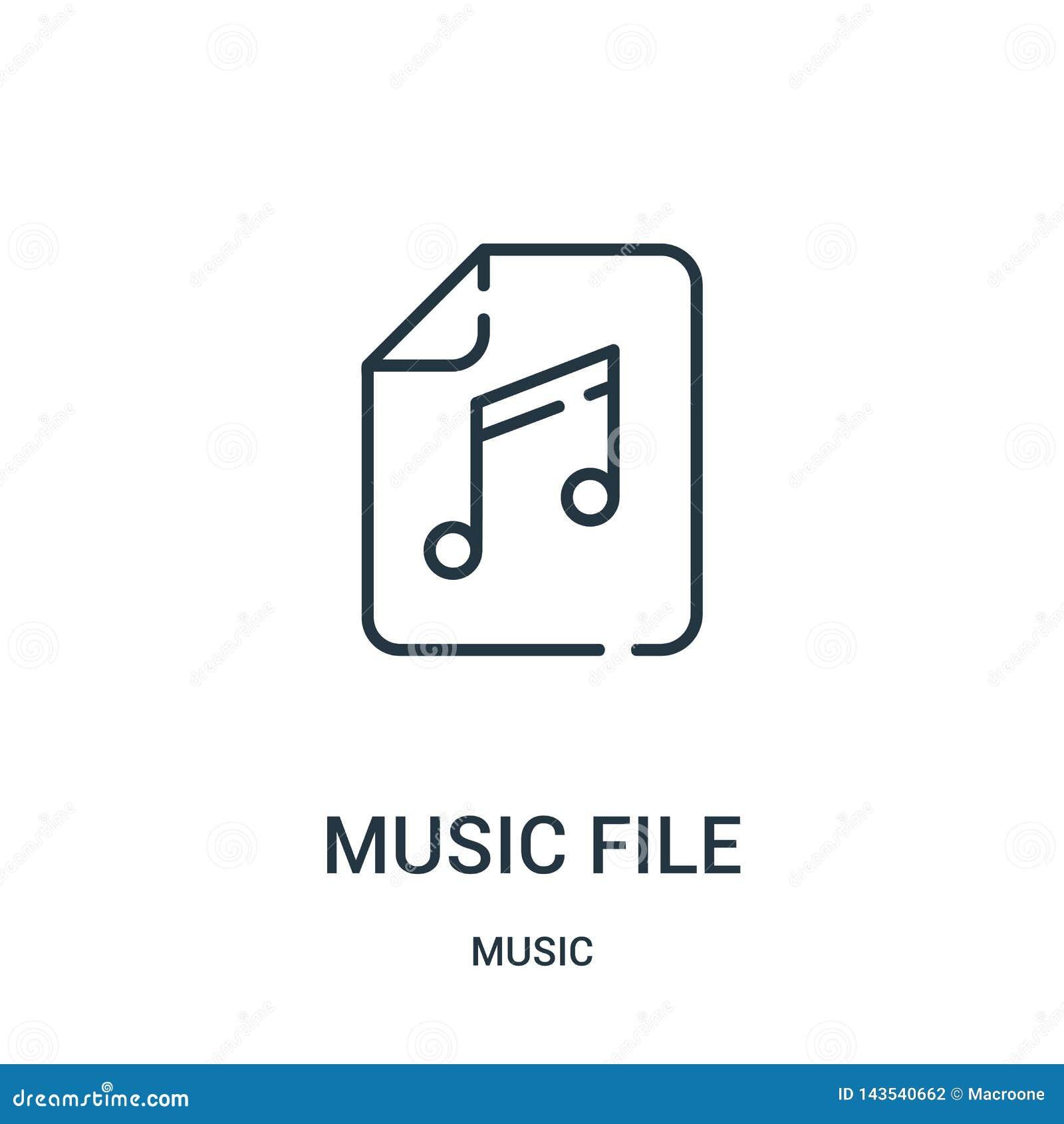 音乐文件从音乐汇集的象传染媒介 稀薄的线音乐文件概述象传染媒介例证