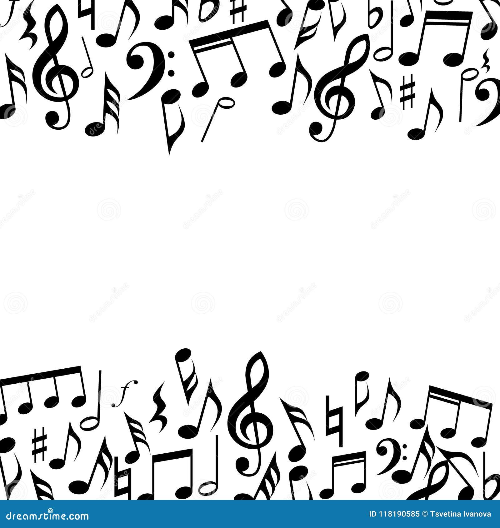 音乐方形的边界框架 音乐注意背景框架