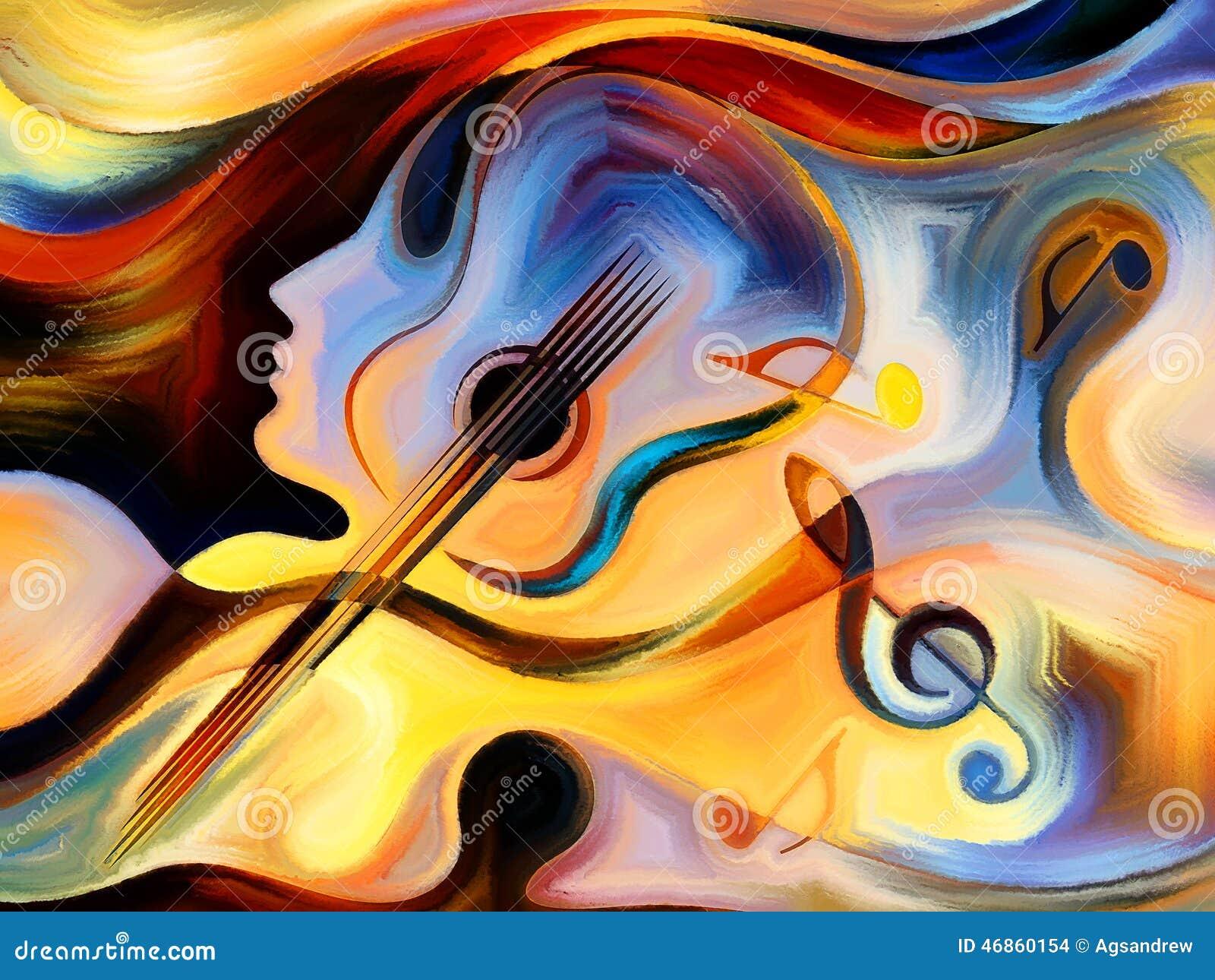 内在曲调系列 五颜六色的人和音乐形状背景关于音乐和表演艺术的灵性图片