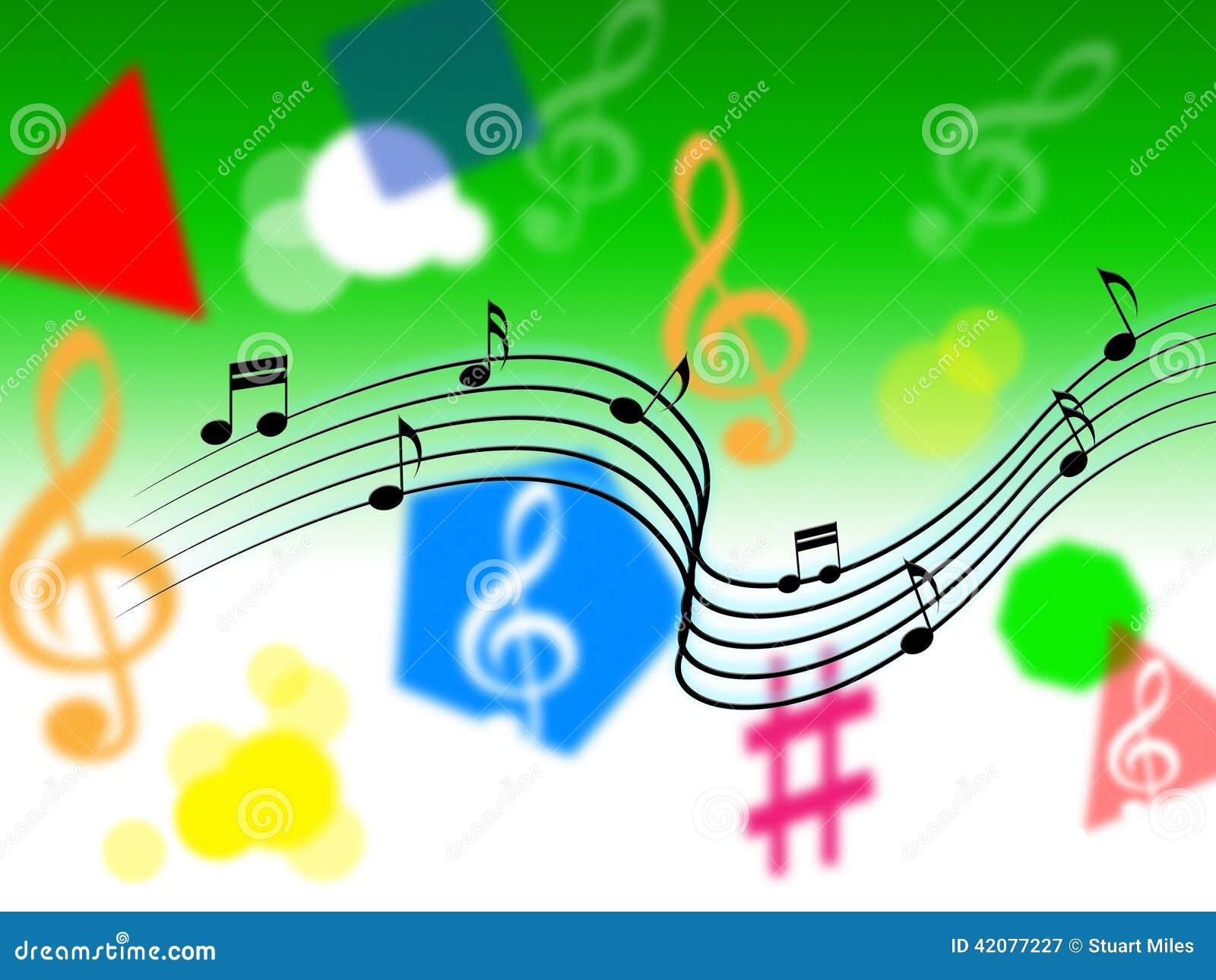 显示曲调片断或唱歌的音乐背景.图片
