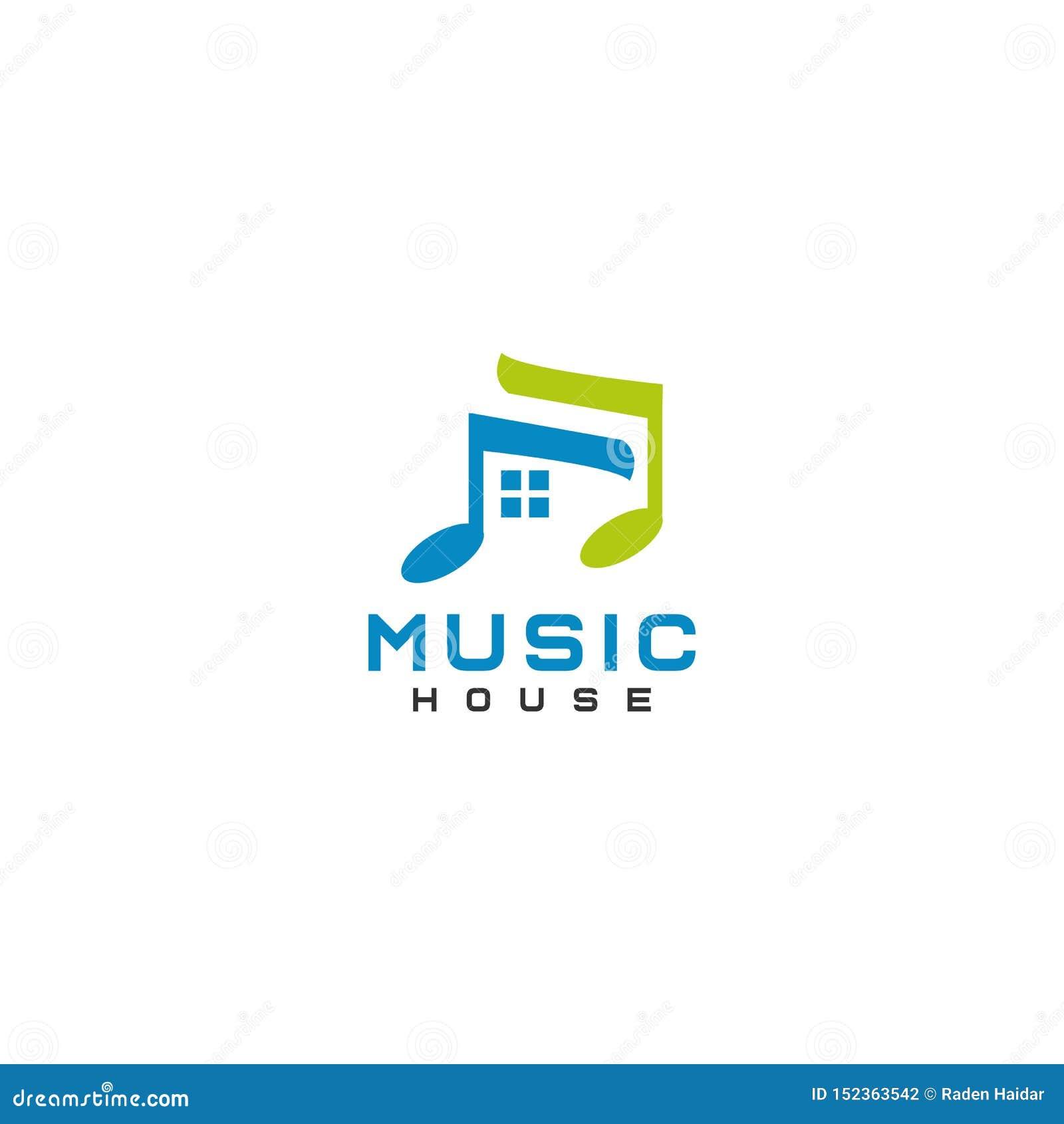 音乐议院商标设计提取平的样式