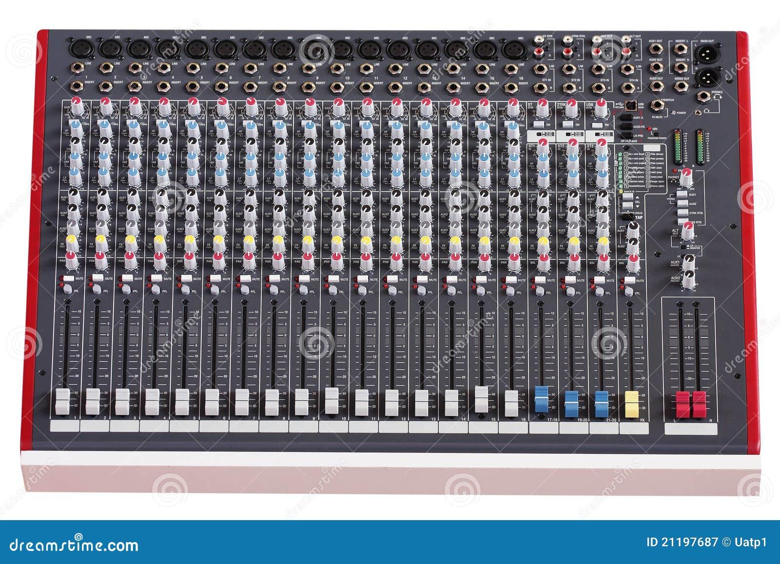 音頻控制臺圖片