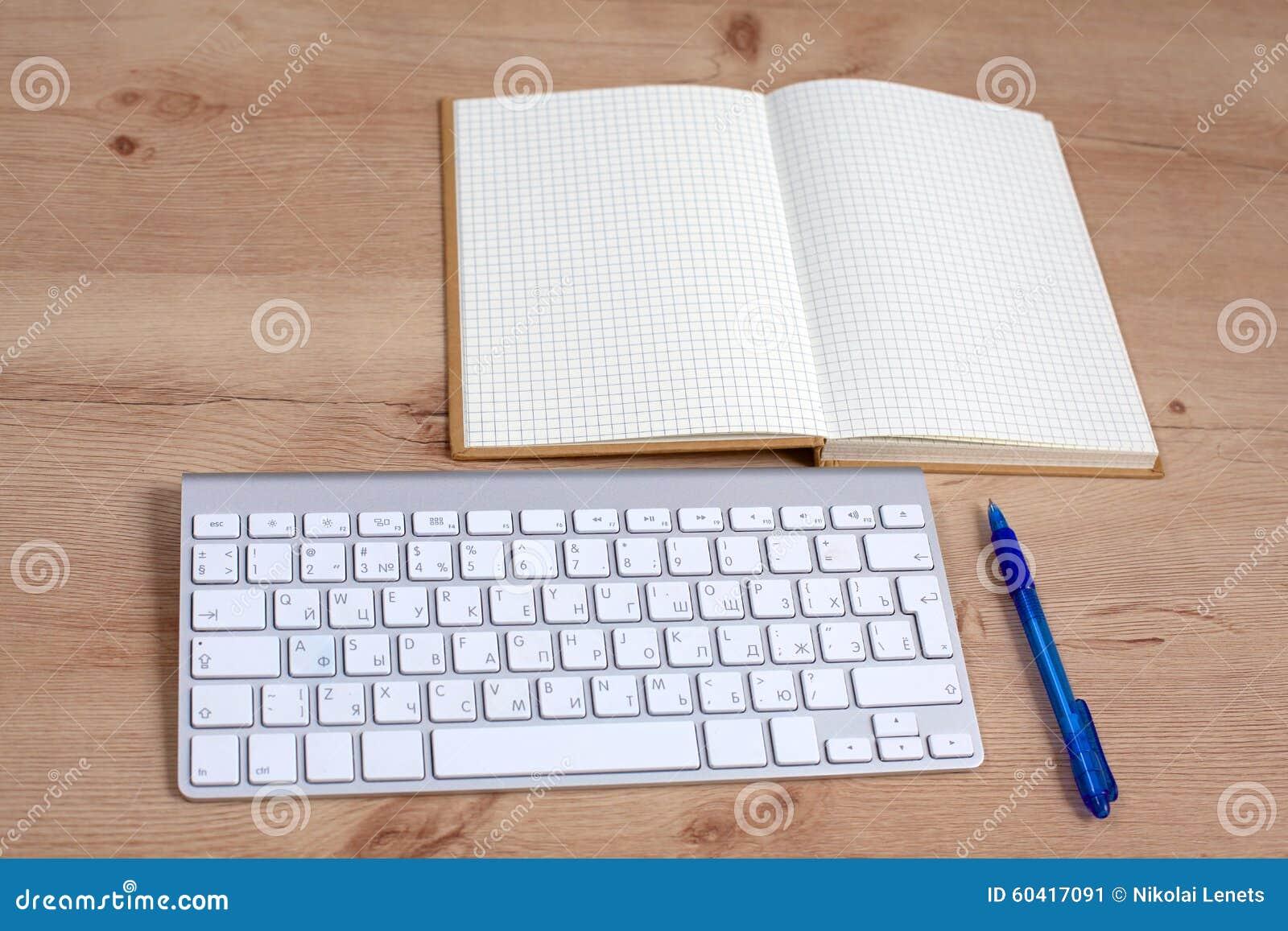 顶视图膝上型计算机或笔记本工作区办公室