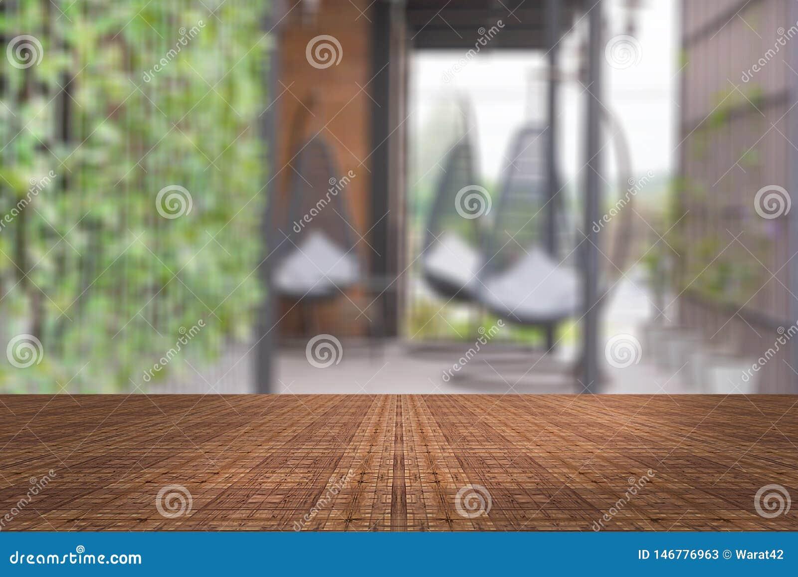 顶面书桌有迷离客厅背景,木桌