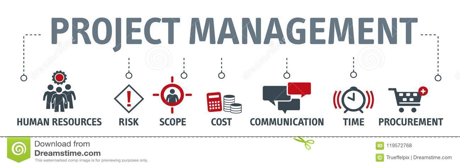项目管理传染媒介例证概念