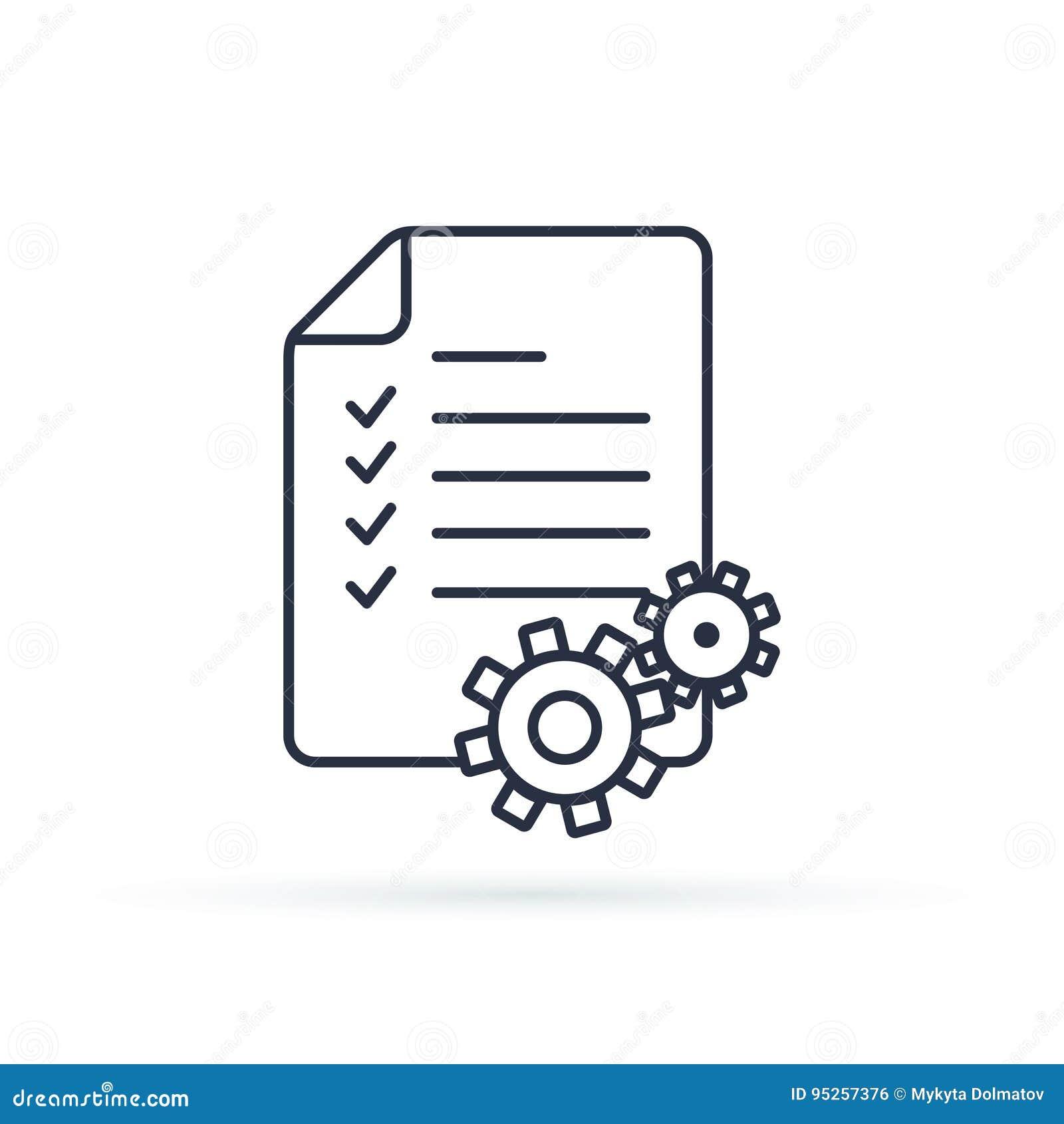 项目管理传染媒介线象 剪贴板象 企业规划的,项目管理例证概念