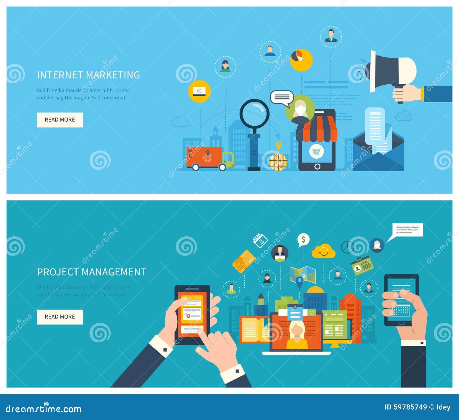 项目管理和互联网营销概念