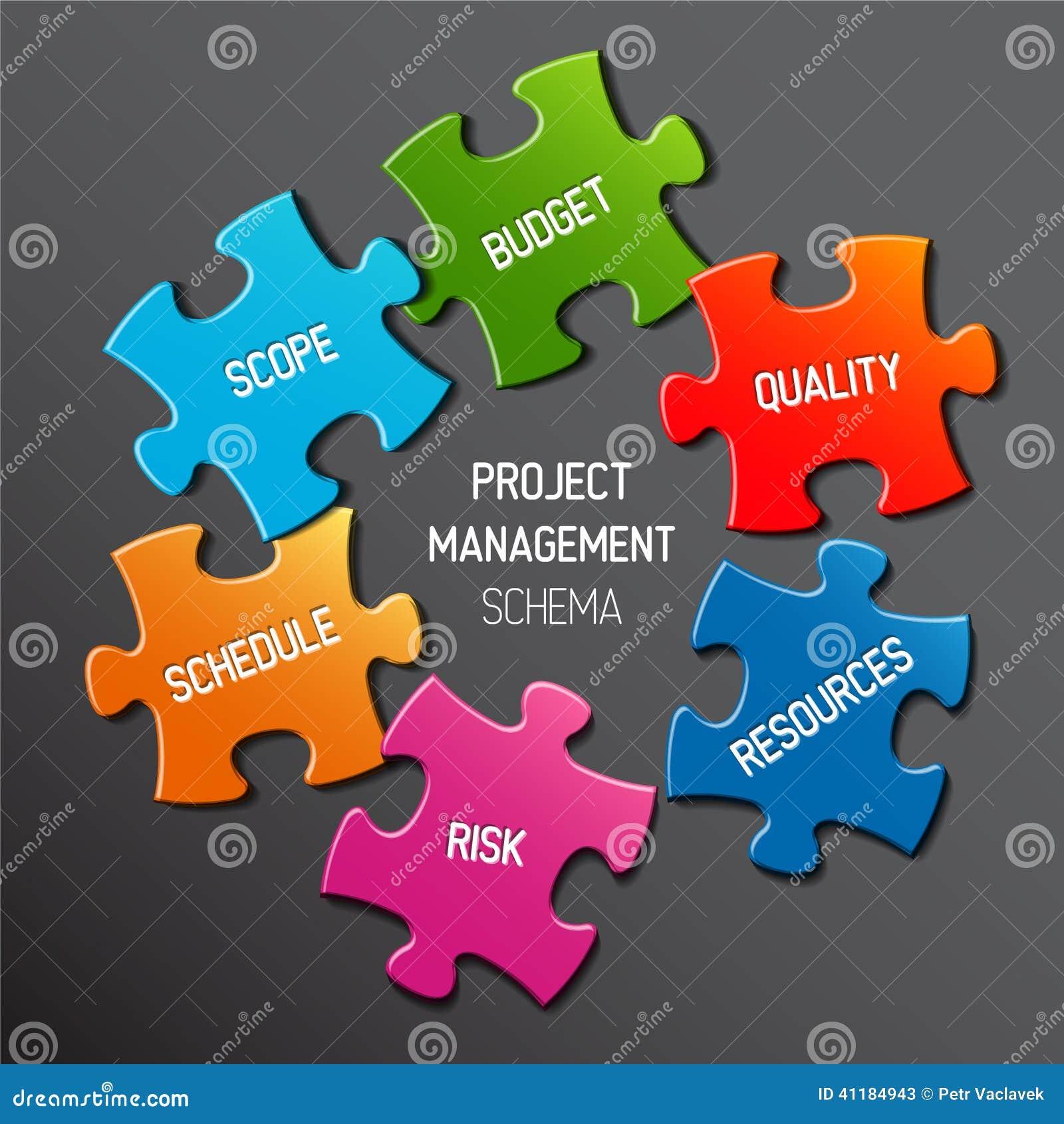 项目管理图计划概念