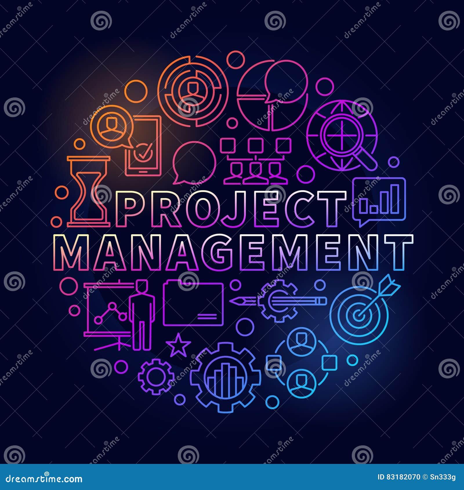 项目管理明亮的例证