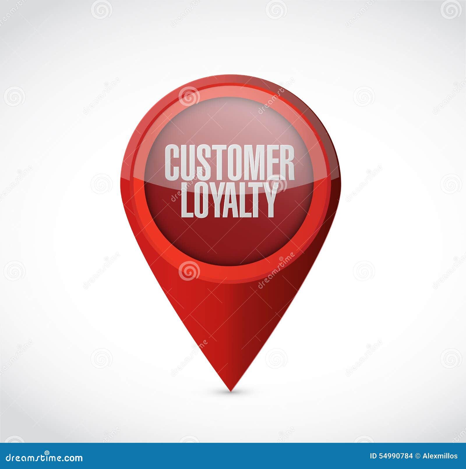 顾客忠诚尖标志概念