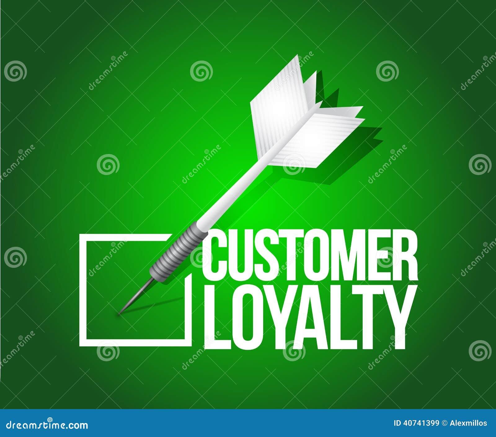 顾客忠诚箭选择 例证