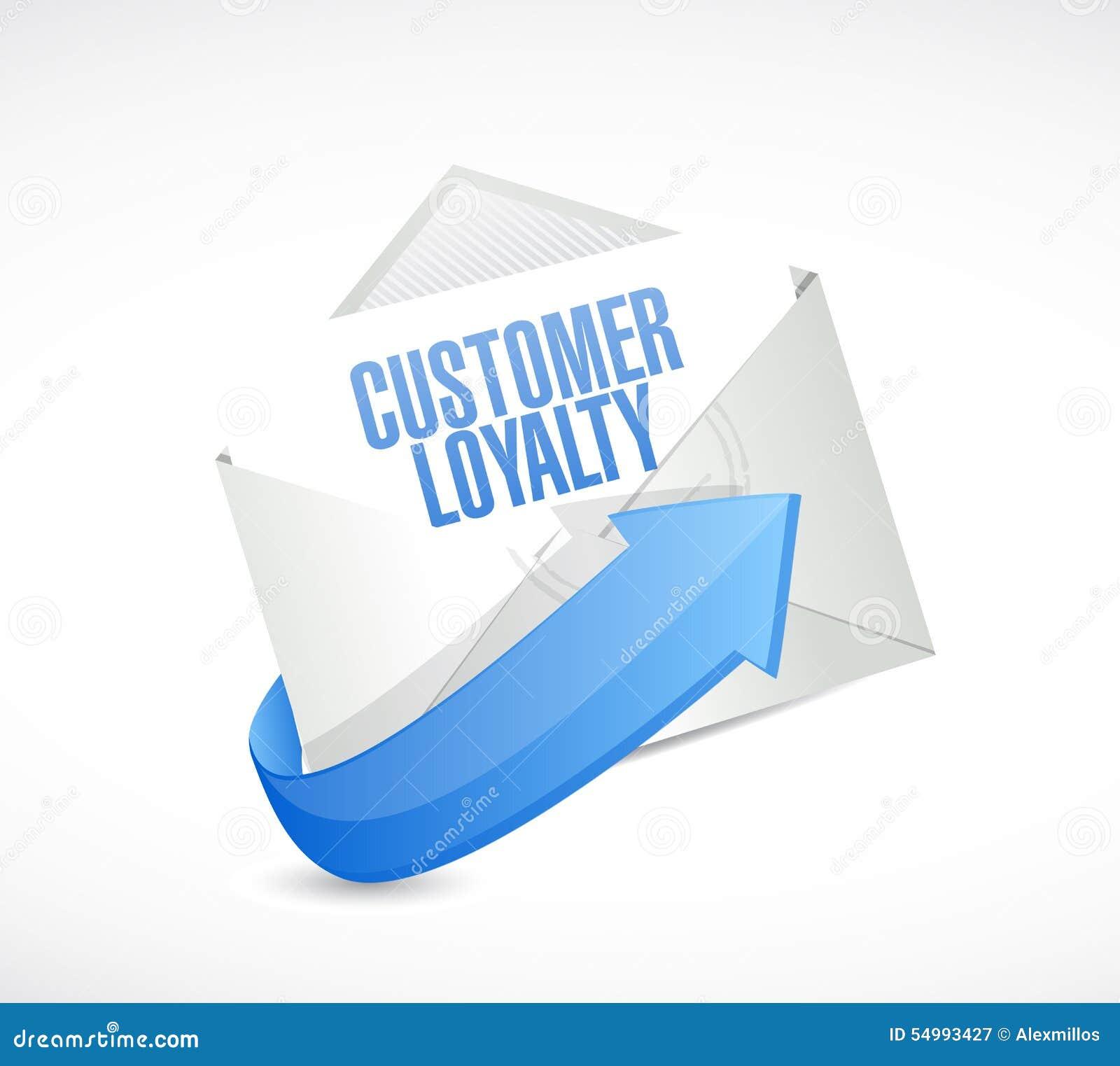顾客忠诚邮件标志概念